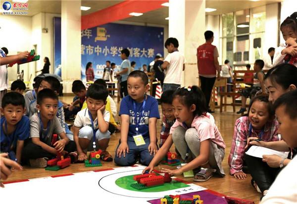 东营中小学生创客大赛举办 300多名学生比创意