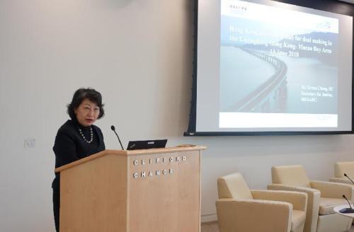 香港官员:香港为大湾区理想的交易和争议解决枢纽