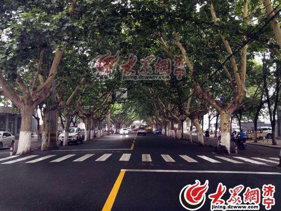 济宁城区道路交通标线进行施划复新
