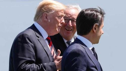 """欧盟主席容克:特朗普在G7上说我是""""残酷杀手"""""""