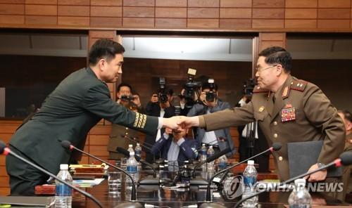 韩朝举行将军级会谈 决定完全修复军事通信线路