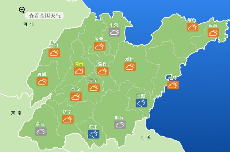 今明两天济南局地有雷阵雨,下周半岛凉爽内陆有点热