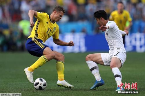 VAR技术再抢镜 世界杯F组瑞典队1-0点杀韩国
