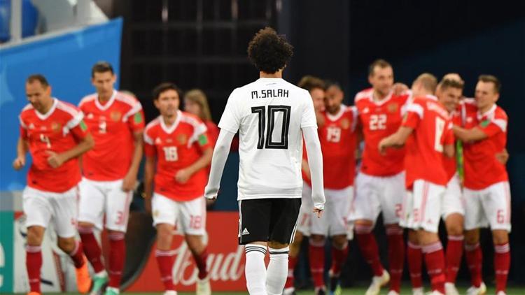 萨拉赫打入首球难救主 埃及1-3不敌俄罗斯