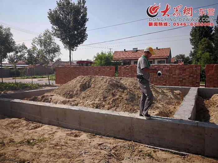 东营市检察院驻盐窝镇东二村党群服务中心项目开工建设