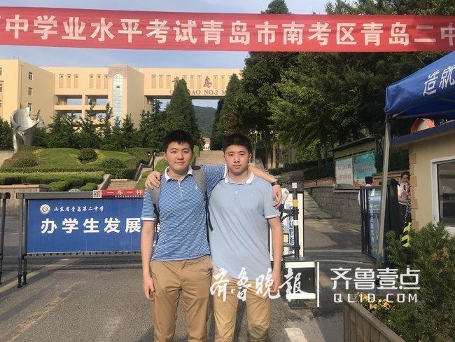 青岛双胞胎同考高分,长得不一样心仪学校也不同