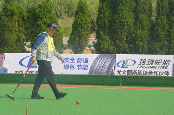 山东省第八届全民健身运动会门球比赛举行