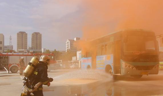 高青组织开展客运防恐、消防应急演练