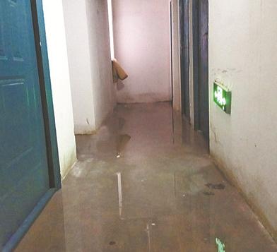 淄博国信国际公馆入住仅两年 地下储藏室漏水