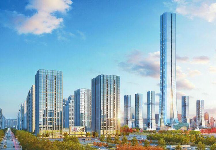 恒大国际金融中心复工 518米将刷新济南第一高