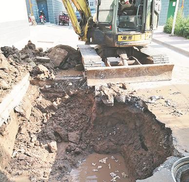 淄博南定马庄村管道爆裂全村停水 抢修9小时恢复