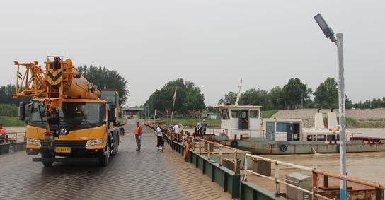 高青拆除黄河浮桥 让路泄洪防汛