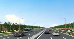 淄博主城区东部路网工程基本完工 预计8月底主车道通车