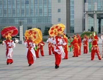 阳信首支鼓子秧歌表演队应邀11月份赴新加坡展演