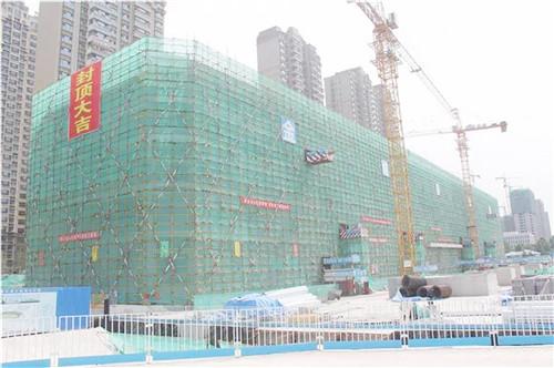 张店市民服务中心主体竣工 计划2019年10月建成投入使用