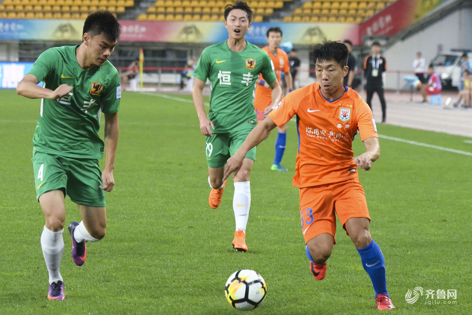 2018足协杯1/4决赛首回合:贵州恒丰智诚0-0山东鲁能