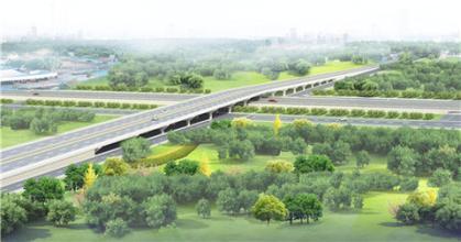 淄博高新区世纪路跨线桥月底具备通车条件 正在施工注意绕行