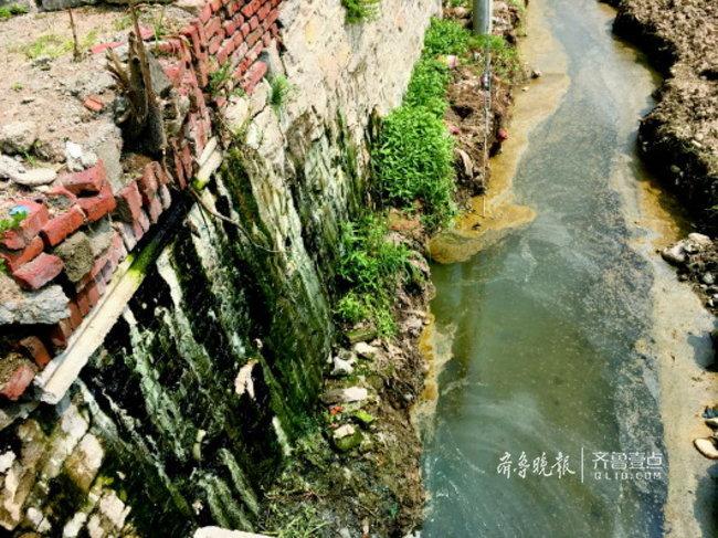 """治污""""首尾难顾"""",济南南部山区管道断裂脏水排河道"""