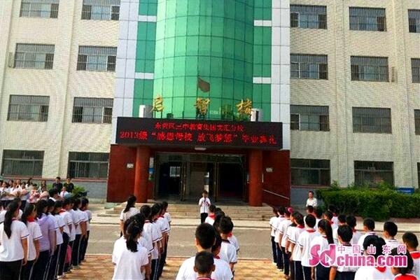 """东营区三中文汇校区举办""""感恩母校放飞梦想""""毕业典礼"""