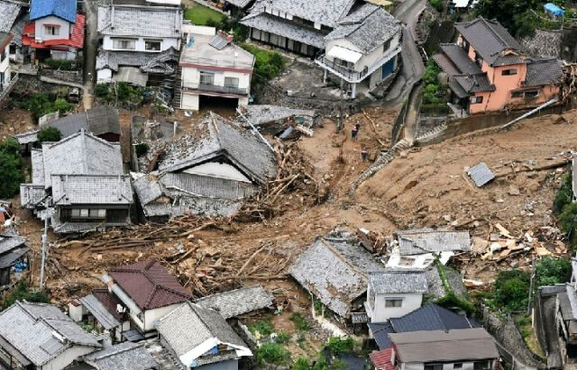 日本暴雨致死逾80人 近60人失联