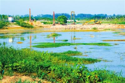 七里河湿地公园雏形初现