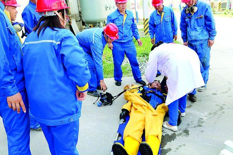 莱城区进行危化品应急救援演练