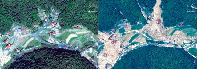 触目惊心!日本西部地区暴雨灾害前后卫星图像公布