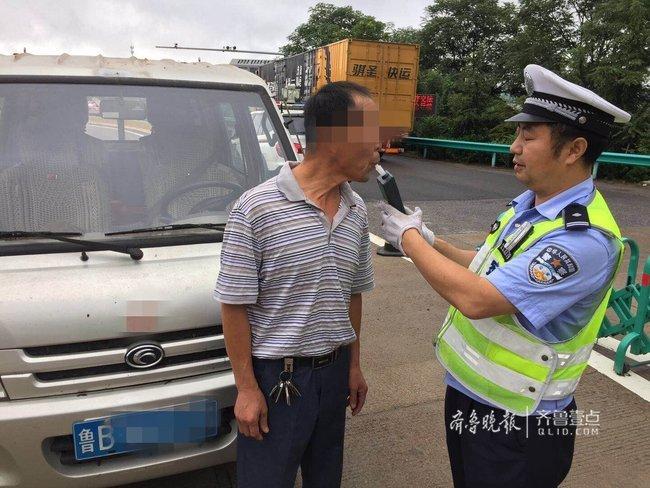 """隔夜酒""""发威"""",青岛交警一早上连查3名酒司机"""