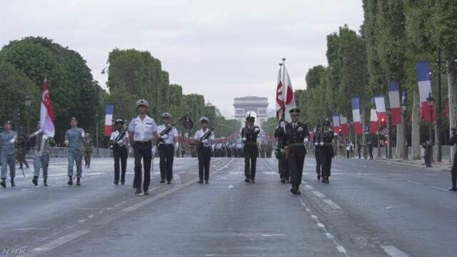 受邀参与法国大革命纪念阅兵式 日本陆上自卫队员忙彩排