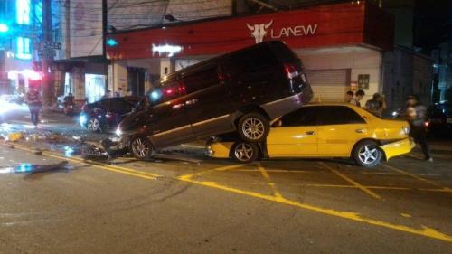 台湾男子酒驾拒检撞3车致3伤 1名伤者是通缉犯