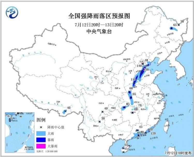 """华北东北等地有较强降雨 """"玛莉亚""""残余环流影响湘鄂"""