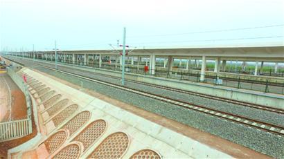 济青高铁胶州北站施工顺利 圆满完成箱梁架设(图)