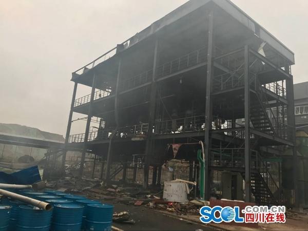 四川爆燃事故致3栋建筑成钢架 事发时工人正换班
