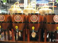 探访青岛精酿金啤体验馆 游客可品尝现酿啤酒