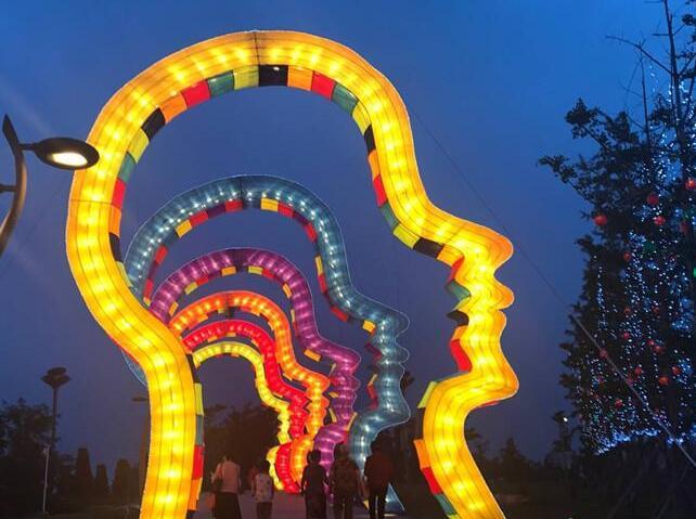 青岛第四届赏灯节世博园开幕 夜场票价50元持续19天