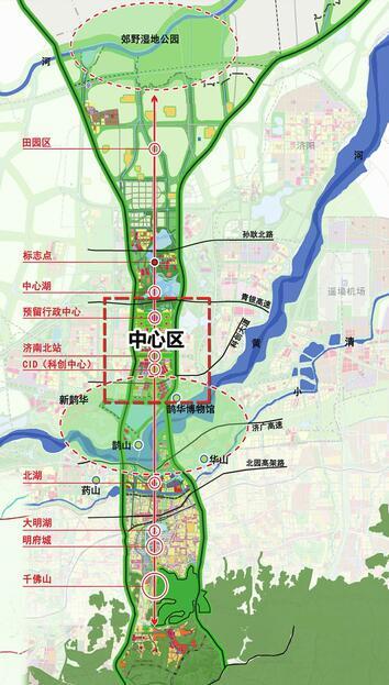 济南新旧动能转换先行区中心区与引爆区城市设计社会公示与征求意见