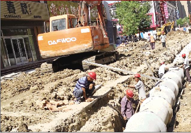 东营商贸园一、二期道路改造提升工程稳步推进