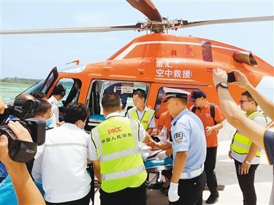 西安救援直升机再起航 帮助榆林一伤者空中转院