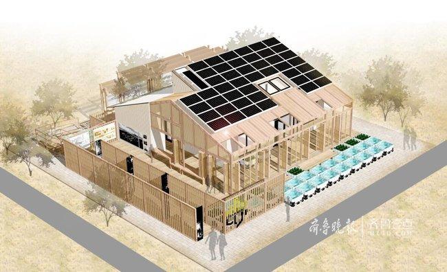 """""""这样的设计,通过新老建筑间的合院、建筑主体前的廊院以及室内的内院等院落空间的营造,可拉近人与人以及人与自然之间的距离。""""周立说,这座建筑的主体大部分材料为木材、稻草、竹材等可再生的生物质材料,这种生物材质不仅成本低,而且可持续利用。建筑构件为新型轻木结构,搁栅及墙骨柱采用空心组合构件,内填特制稻草板,使建筑的保温功能与结构的承重功能合二为一,绿色环保。 """"自然之间""""采用全屋智能化控制,建筑中的设备、家电、部分建筑构件等通过智能控制系统进行智能控制,而不只"""