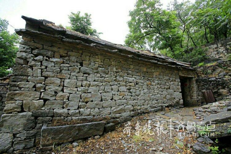 济南古村落没口村,600年历史的石头房