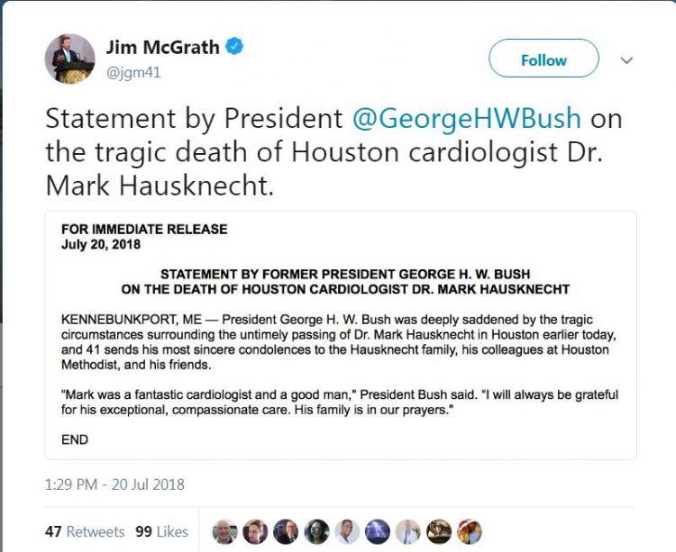 美国发生枪击案:受害者为老布什心脏医生 身中两枪不治身亡