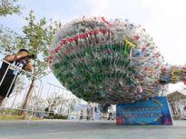 日照4万个塑料瓶变身9米鲸鲨获基尼斯之最
