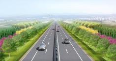 G233克黄线淄博高新区段沿线绿化带工程8月26日完工