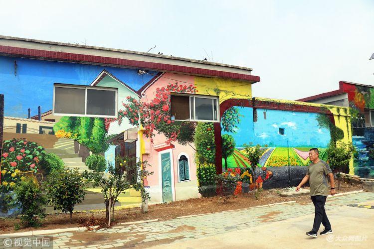 """泰安:艺术墙绘遇上美丽乡村 这个村满满""""艺术范"""""""