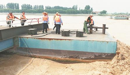 黄河汛期已过 横跨淄博、滨州两岸两座浮桥恢复通行