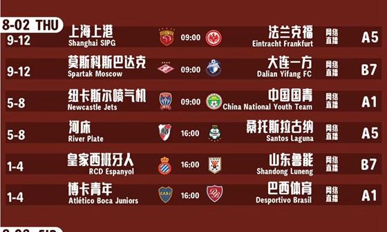 潍坊杯:鲁能晋级4强将遇西班牙人 国青比赛改为晚上7点