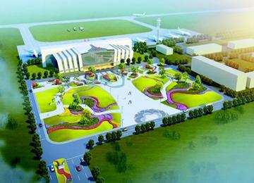 牡丹機場廣場設計方案出爐