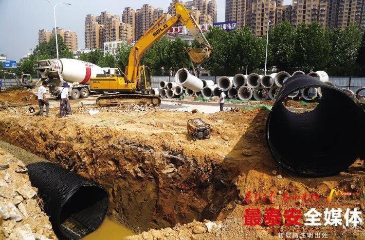 泰安:凤凰路改造提升 预计8月底具备通车条件