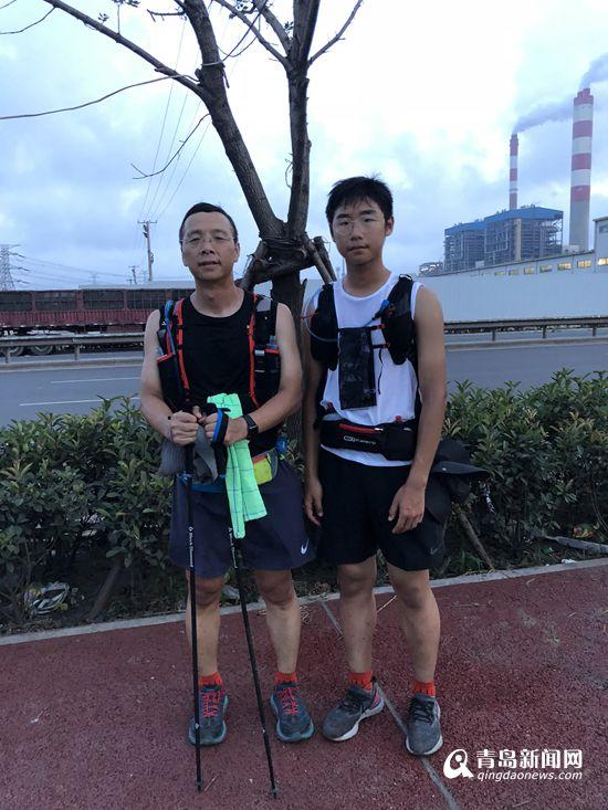 青岛这对父子厉害了 三伏天徒步近300公里前往连云港