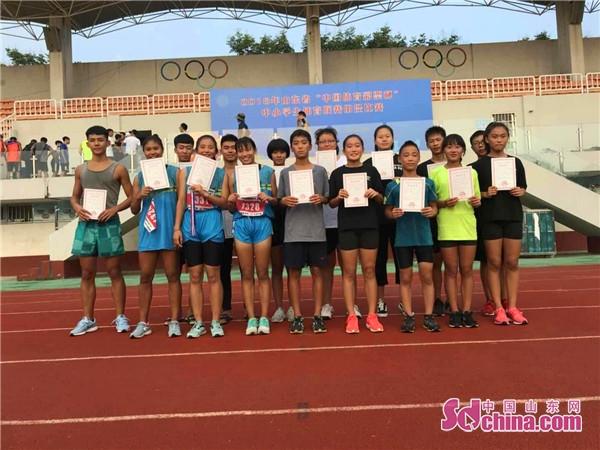 省中小学生体育联赛田径比赛东营区一中喜获三金一银